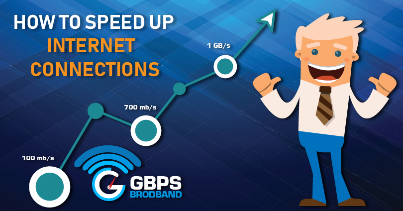 speed up broadband internet connection