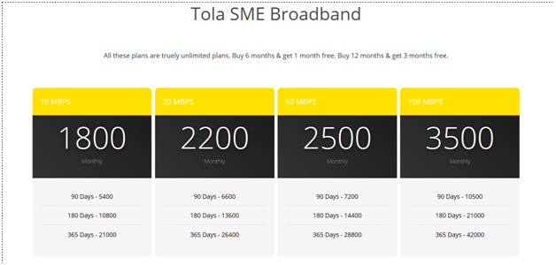 tola broadband plan